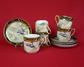 Vintage Espresso Cups and Saucers - Coffee Cups