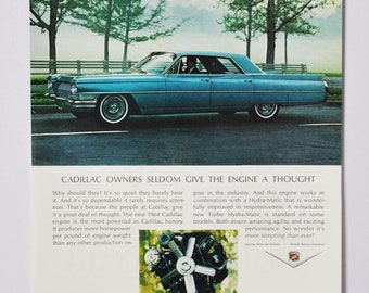 general motors company GM classic old photo advertisement parts brochure retro sports custom dealer dealership auto Car Ad 1964 Cadillac