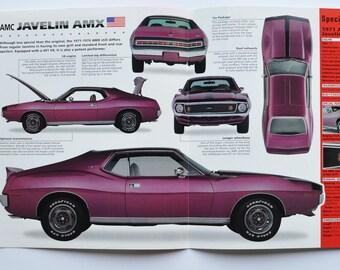 Javelin AMX Print Garage Decor Wall Art Gifts AMC Javelin AMX Poster