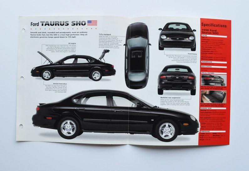 Spec Sheet Ford Taurus SHO car photo stat motor info specs ...
