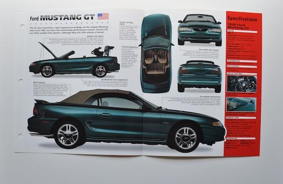 1998 Ford Mustang Sales Brochure Mustang//GT Mint!