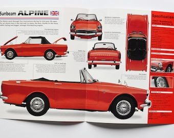 Spec Sheet Sunbeam Alpine (1959-1968) (car photo stat info specs brochure parts ad old vintage classic sports rootes group coventry auto)