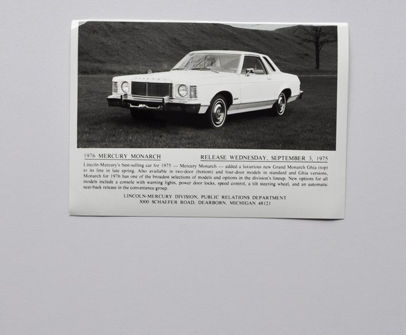 Oldtimer US Car T-shirt Voiture Mercury monarque 1975 YOUNGTIMER