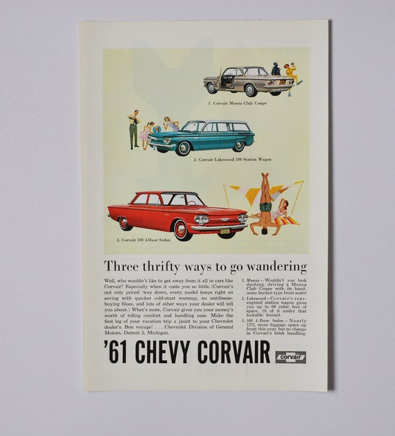 Car Ad 1958 Chevrolet general motors company GM classic photo advertisement parts brochure retro dealer dealership american classic chevy