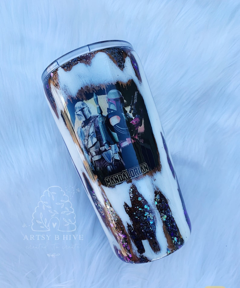 This is the way glitter tumbler