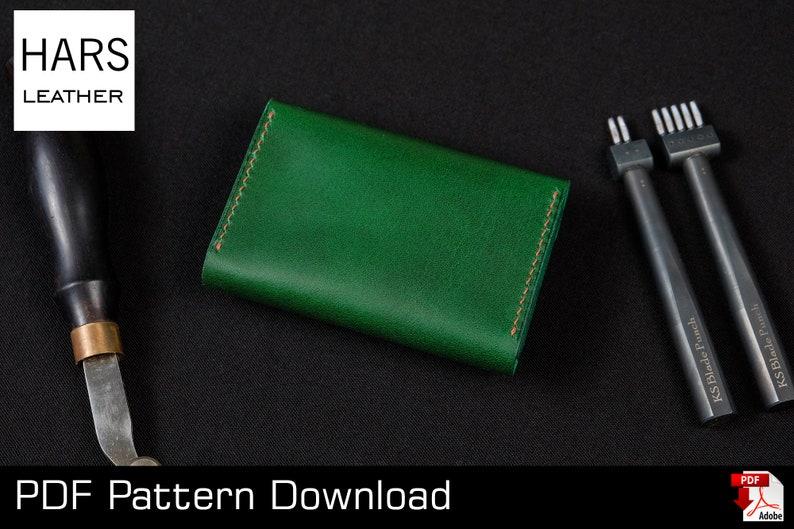 Leather DIY PDF Pattern CardHolder Leather Pattern