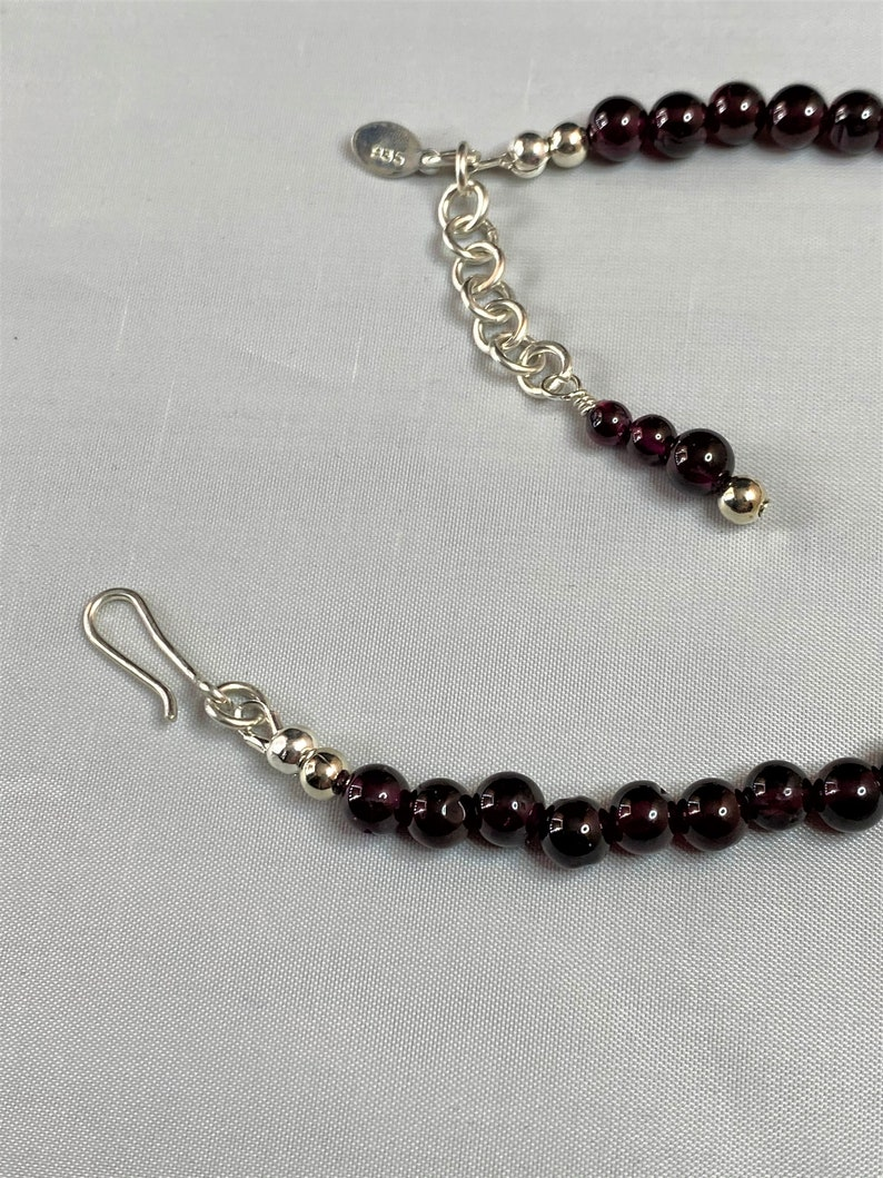 Citrine and Garnet Bracelet Citrine Nuggets and 6mm Garnet Gemstones with a 18 Gauge Hand Forged Argentium 935 Silver Chain and Clasp
