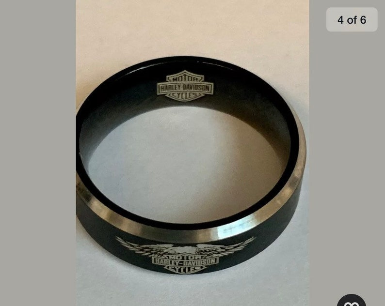 Harley Davidson Inspired Titanium Ring size 10.