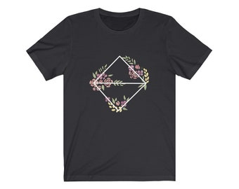 Unisex D8 Geometric Botanical Jersey Short Sleeve Tee for nerds, and dice goblins