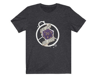 Unisex Real Dms Roll D20s Jersey Short Sleeve Tee for nerds, dice goblins, and gamers