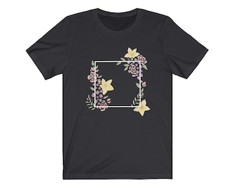 Unisex D6 Geometric Botanical Jersey Short Sleeve Tee for nerds, and dice goblins