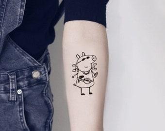 Pig Tattoo Etsy