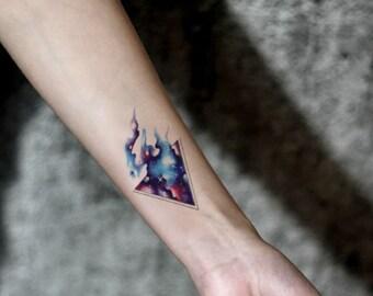 Driehoek Tattoo Etsy
