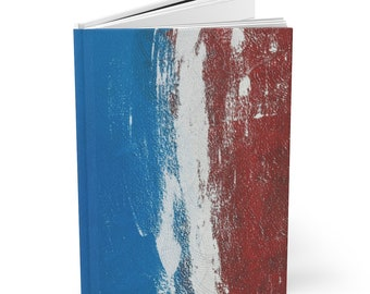 Writing Journal Blue Red White