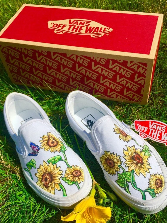 Custom Sunflower Vans | Etsy