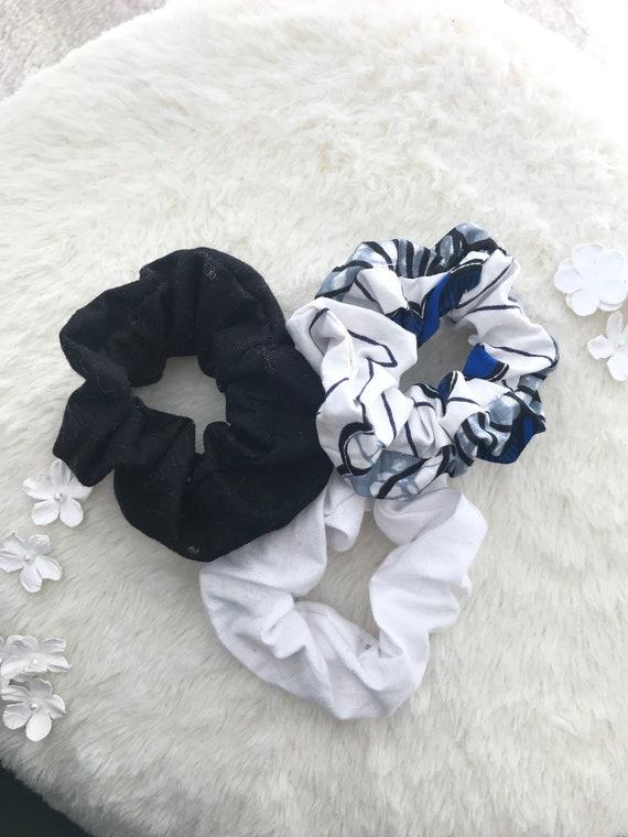 Handmade Nursing Print Cotton Scrunchie
