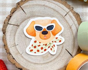 Sassy Dog ~ Planner / Journal Sticker ~ Funny / Cute / Retro / Cottagecore / Summer ~ illustration / painting / drawing ~ HoneyPlumPaper