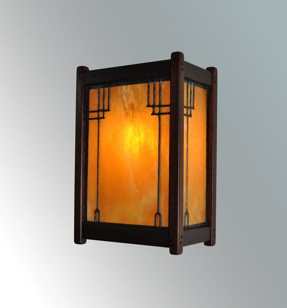Greene And Greene Style Lighting Wall Sconce Arts And Crafts Etsy