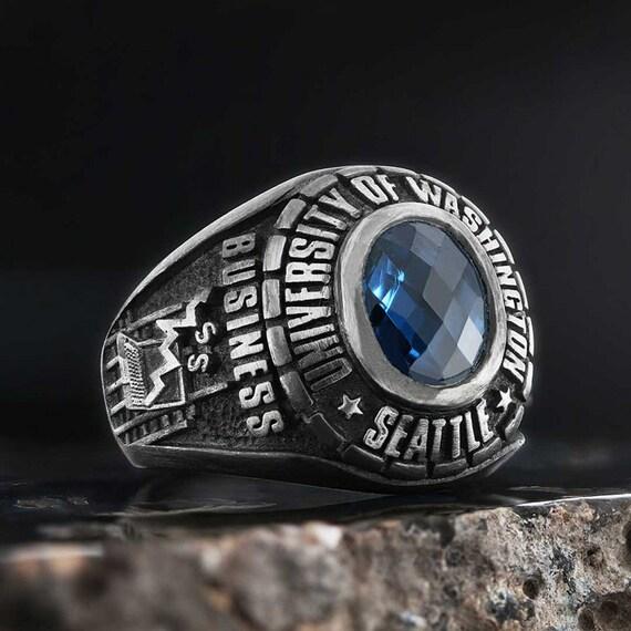 BEST super design highschool college ring in silver925