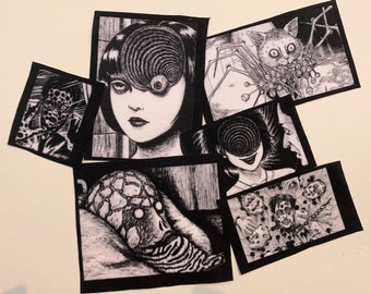 Junji Ito Manga Horror Patches / Punk Patch / Sew on Patch / Fabric Patch