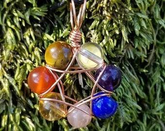 Chakra Necklace Yoga Necklace Crystal Pendant Necklace Layering Necklace Amethyst Rose Quartz Carnelian Lapis Lazuli Citrine Tiger Eye