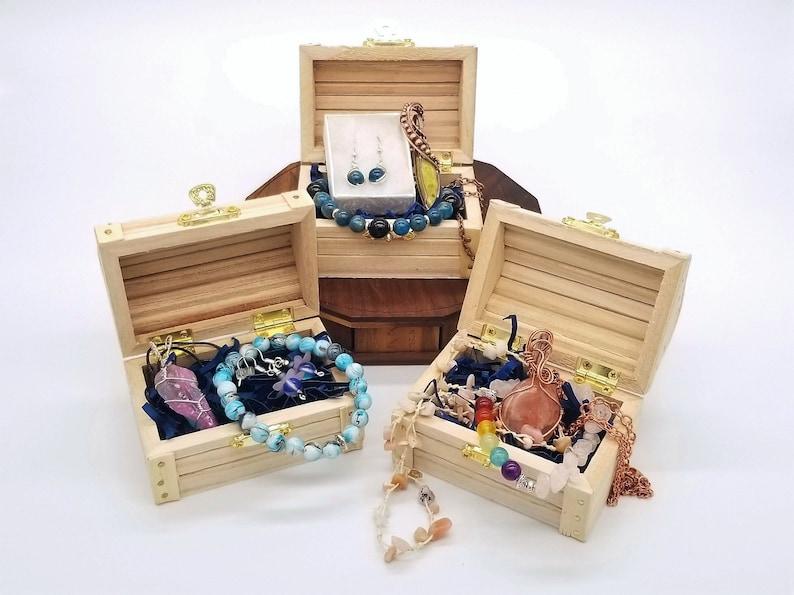 Crystal Jewelry Bracelet Grab Bag Earring Gemstone Jewelry Treasure Chest Wire Wrap Jewelry Mystery Box Wire Wrapped Necklace
