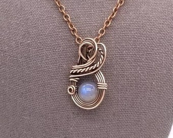 Labradorite Wire Wrap Necklace Yoga Necklace Crystal Healing Copper Jewelry Gemstone Pendant Copper Necklace Layering Necklace Valentine