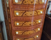 King Louis XV style commode lingerie chest