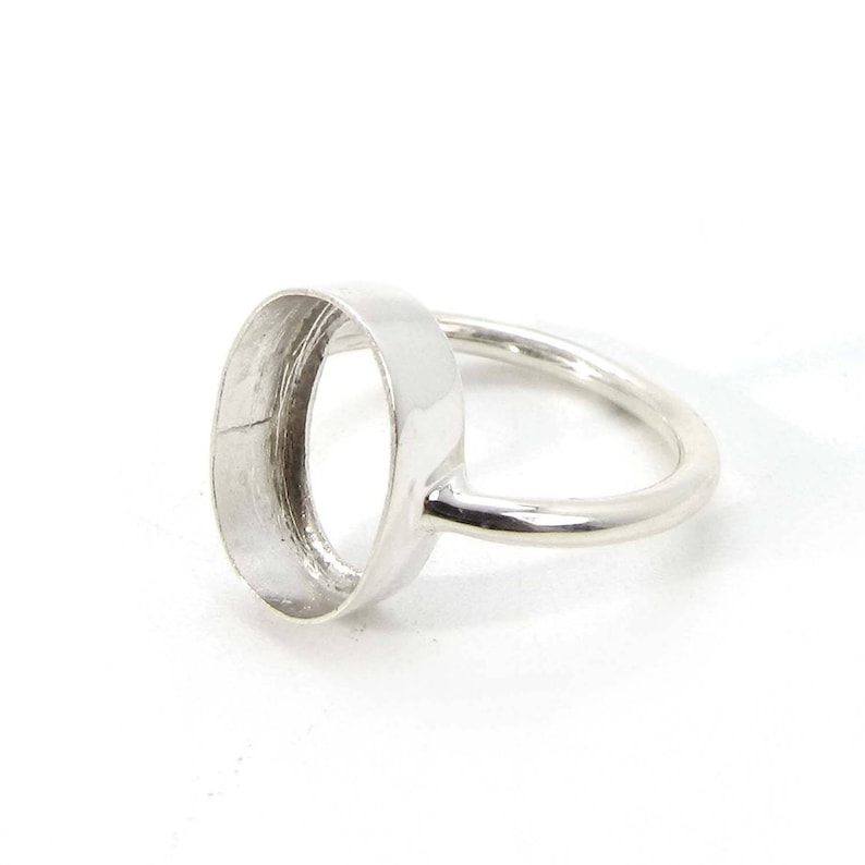 blank bezel ring 925 Sterling silver oval 6x4mm to 30x20mm stone bezel cup metal casting for ring collet setting