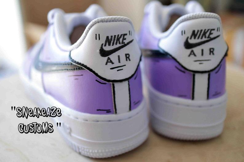 Nike Air Force 1 cartone animato lilla vk3AhIJh