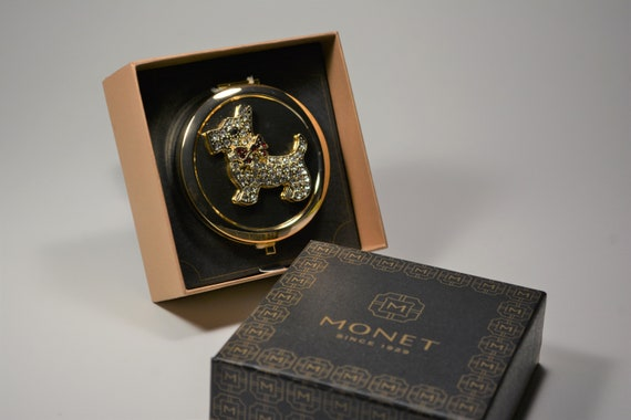 Monet Compact, Scottish Terrier Mirror Compact, V… - image 7