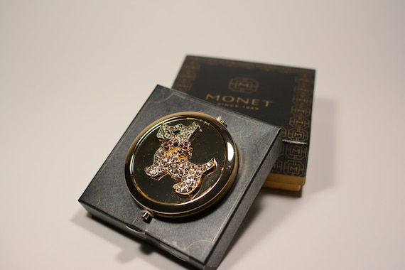 Monet Compact, Scottish Terrier Mirror Compact, V… - image 9