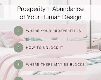Prosperity, Abundance, and Money in Your Human Design Chart - Immediate Digital Download!