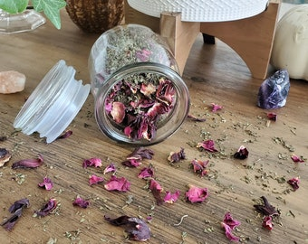 Witchy Pink Tea 20-30 cups in Glass Jar