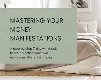Master Your Money Manifestation Process - Digital Workbook to Create Your Manifestation Process