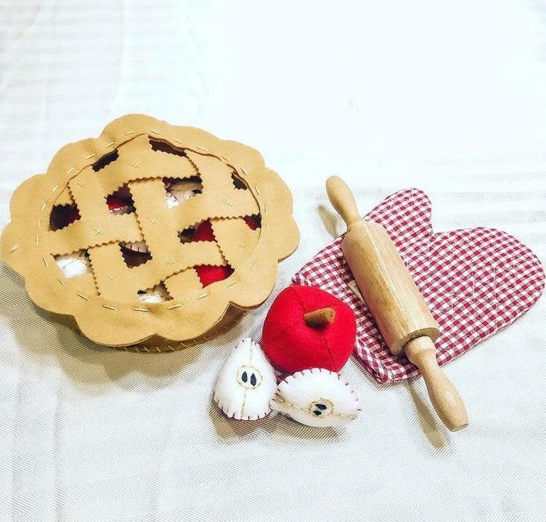 Felt Food Apple Pie High Quality Made with Wool Felt image 0