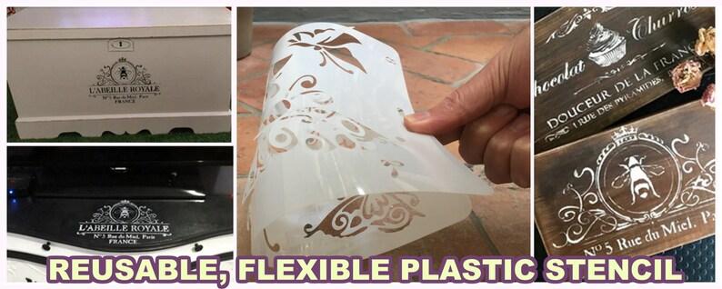 No.31 card making wall stencil furniture stencil home decor stencil steampunk hot air balloon  reusable flexible plastic stencil