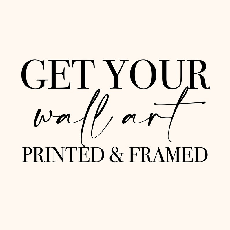 Print And Frame Add On Printed Minimalist Wall Art High image 0