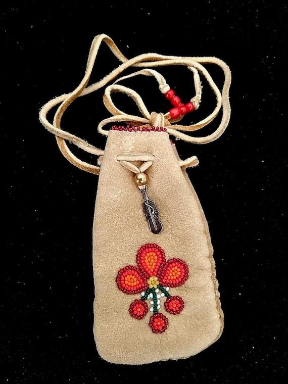 Collectible Beaded Medicine Bag, with documentatio