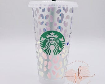 Animal Print Starbucks Reusable Venti Cup | Personalized Option Cheetah Cup with Name | Leopard Coffee Cup