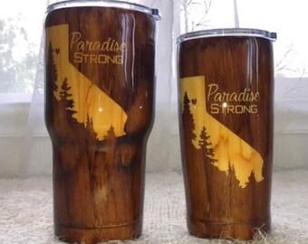 Paradise Strong Woodgrain Tumbler