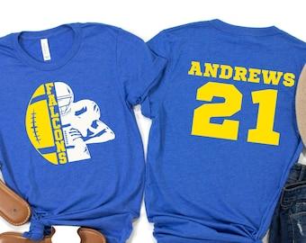 Customized Football Shirt - Your Name Football - Football Shirt - Game Day Shirt - Football Season Tee - Football Graphic Tee