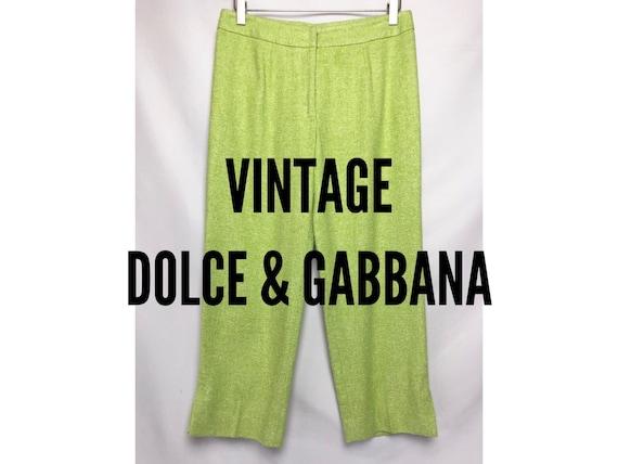 Vintage Dolce & Gabbana Lime Green Crop Pants