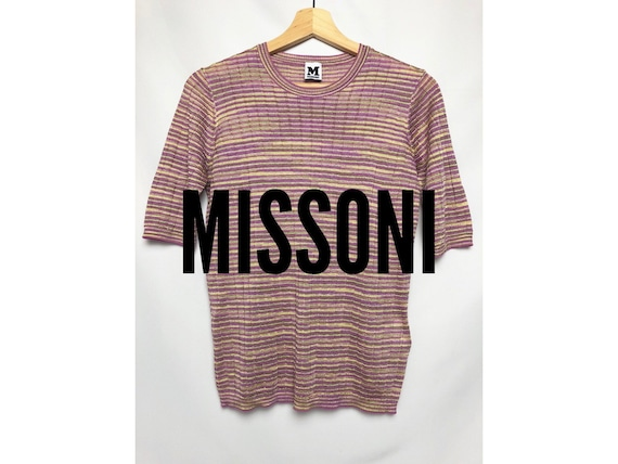 Vintage Missoni Metallic Gold Pink Knit
