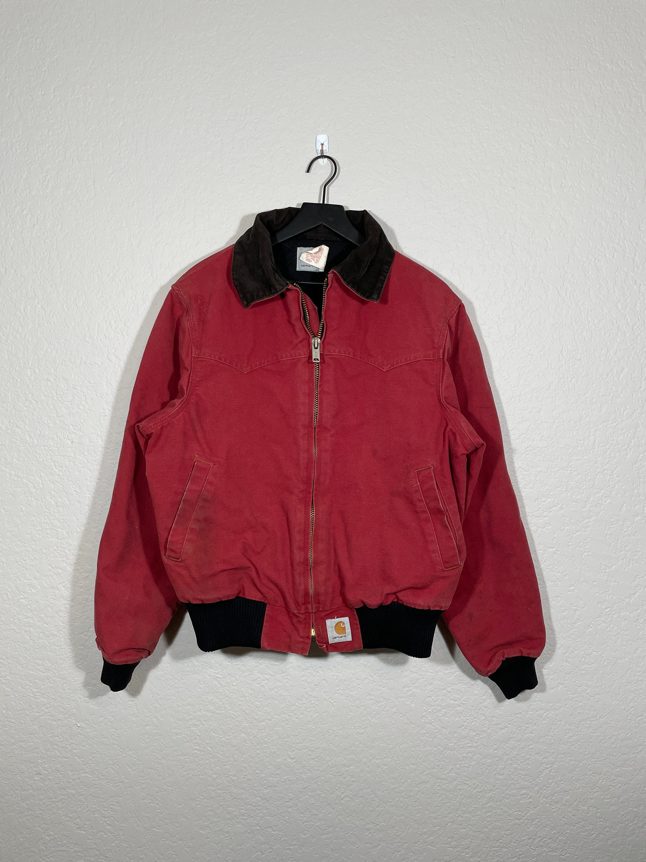 vintage 90s Carhartt Workwear Red Worn Faded Work