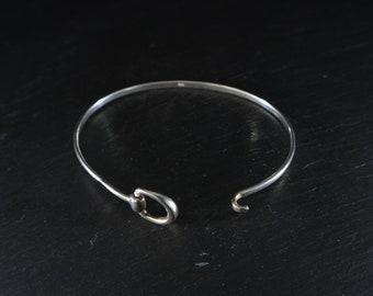 925 Silver Bangle Bracelet (B27)