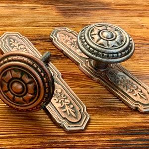 Metal Door knob Door Handle Vintage door knob Vintage door handle Soviet Vintage flower door handles,Soviet Door knobs USSR 1980s