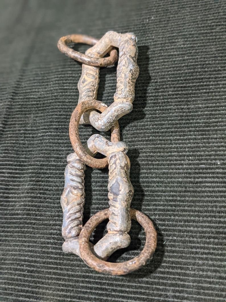 Intricate Design Unique Salvaged Iron Chain