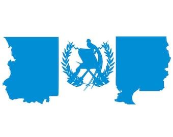 "/""3x4/"" Micronesia Sticker Micronesia Flag Decal"