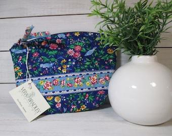 Vera Bradley Bluebird Small Cosmetic Bag
